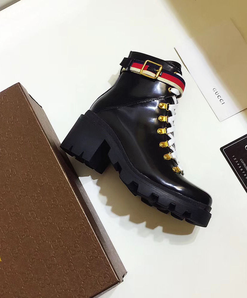 Replica Gucci Womens Leather ankle boot