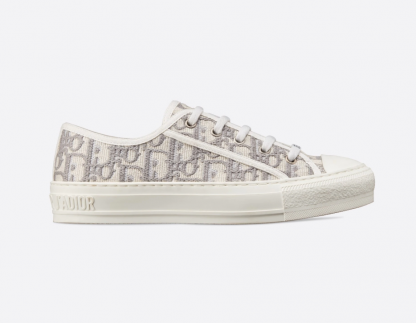 Replica DIOR GRAY WALK'N'DIOR DIOR OBLIQUE EMBROIDERED COTTON SNEAKER 2020SS #40377